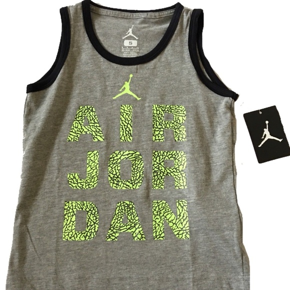 8145465cfbd2b Nike Air Jordan Gray Tank Top Kids
